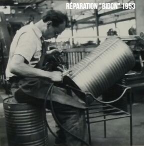 Fabrication de Fût 1957