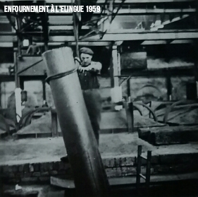 Enfournement d'Anode 1959